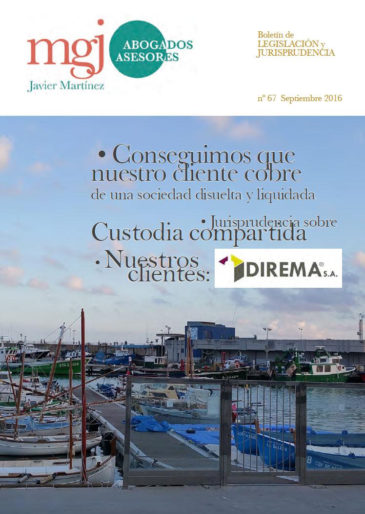 MGJ Abogados Boletín. Septiembre 2016