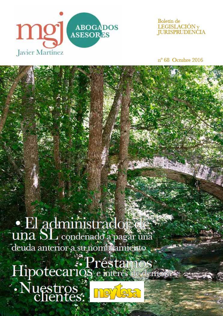 MGJ Abogados Boletín. Octubre 2016