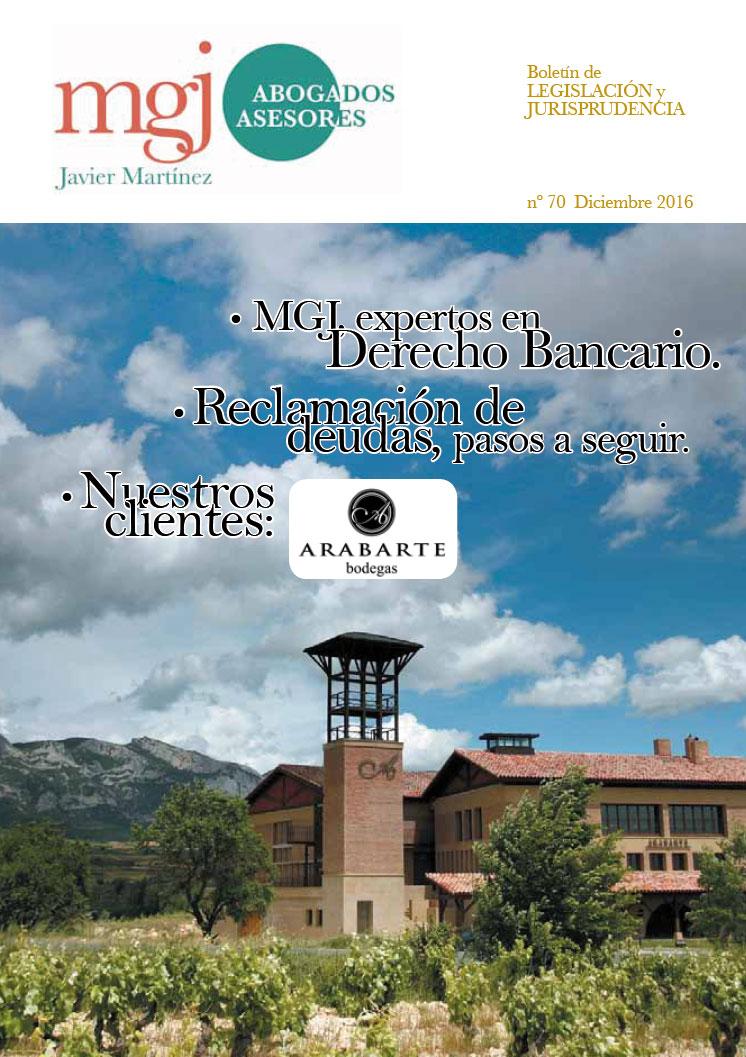 MGJ Abogados Boletín. Diciembre 2016