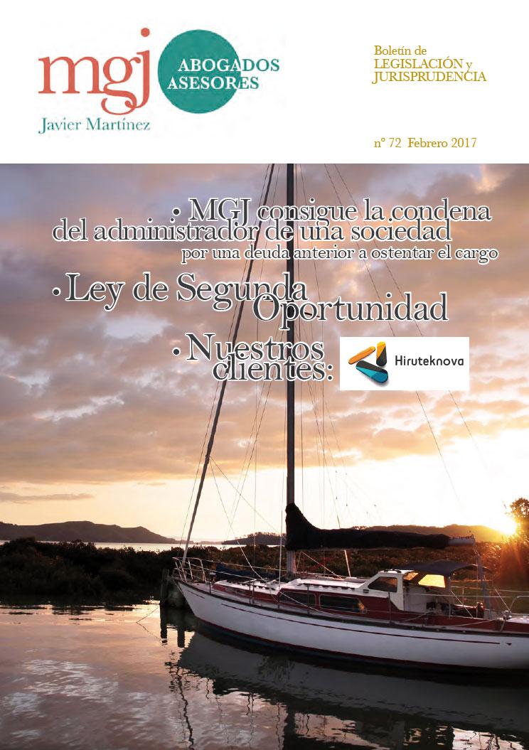 MGJ Abogados Boletín. Febrero 2017