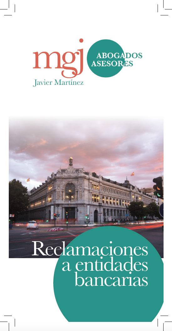 MGJ Díptico Reclamaciones Bancos