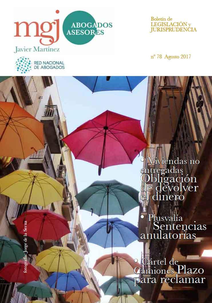 MGJ Abogados Boletín. Agosto 2017