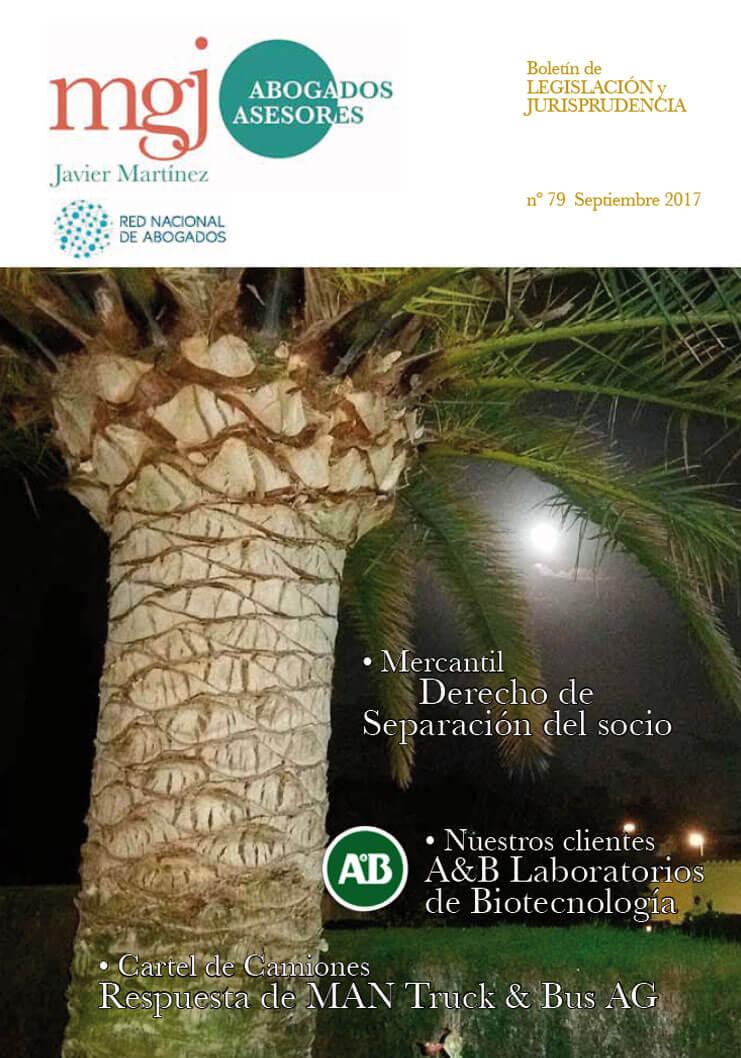 MGJ Abogados Boletín. Septiembre 2017