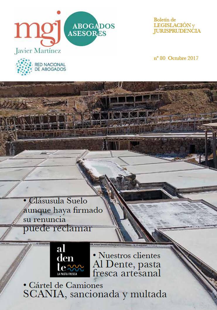 MGJ Abogados Boletín. Octubre 2017