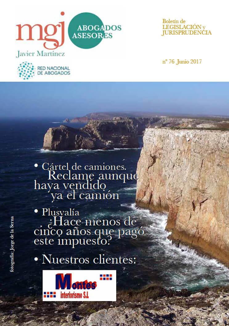 MGJ Abogados Boletín. Junio 2017