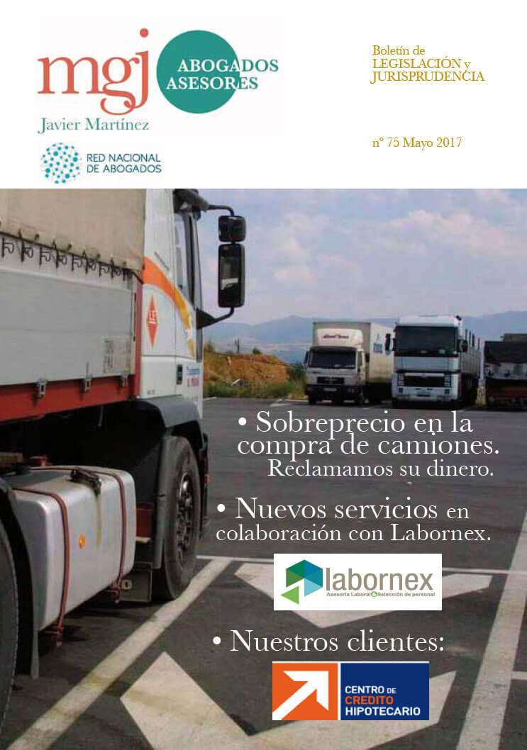 MGJ Abogados Boletín. Mayo 2017